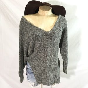 French connection slouch angora silk crop sweater